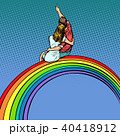 女性 カップル 二人のイラスト 40418912