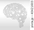 AI 人工知能 テクノロジーのイラスト 40421603