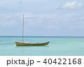 晴れ 海 サバニの写真 40422168