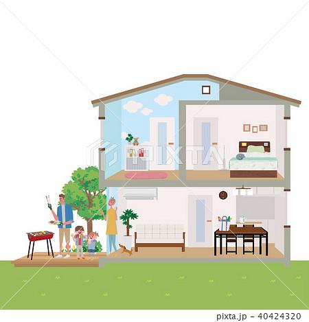 住宅 家 断面図 イラスト 40424320