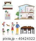 断面図 家族 断面のイラスト 40424322