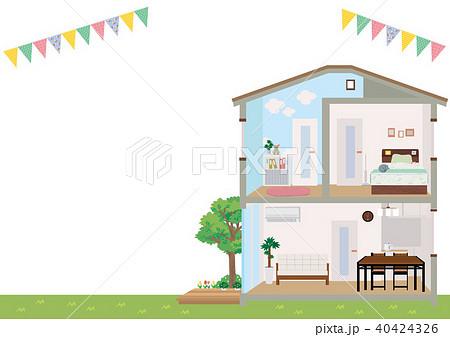 住宅 家 断面図 イラスト 40424326