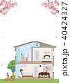 住宅 家 断面図 イラスト ポスター 40424327