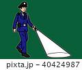 警備員 巡回 夜回りのイラスト 40424987