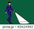 警備員 巡回 夜回りのイラスト 40424992