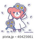 熊 ウエディング ウエディングドレスのイラスト 40425661