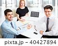 ビジネスマン ビジネスチーム キャリアウーマンの写真 40427894