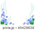 あじさい 紫陽花 フレームのイラスト 40428638