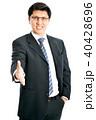 ビジネスマン 実業家 歓迎の写真 40428696