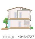 一軒家 断面図 断面のイラスト 40434727