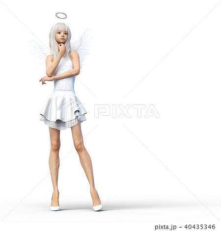 かわいい天使 フェアリー 妖精 perming3DCGイラスト素材 40435346
