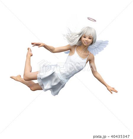 かわいい天使 フェアリー 妖精 perming3DCGイラスト素材 40435347