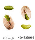 Pistachios on white background. Watercolor illustration 40436094