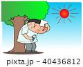 熱中症 酷暑 男性のイラスト 40436812