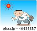 熱中症 酷暑 男性のイラスト 40436837