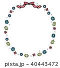 宝石 フレーム 手描き イラスト 40443472
