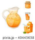 オレンジ オレンジ色 くだもののイラスト 40443638