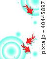 金魚 夏 波紋のイラスト 40445897