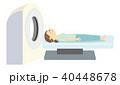 MRI 人間ドック 脳ドックのイラスト 40448678