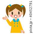 子供 女の子 案内のイラスト 40452791