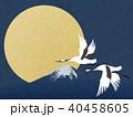 富士山 月 満月のイラスト 40458605