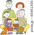 家族 三世代 ソファのイラスト 40461300