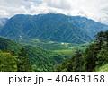 西穂山荘・焼岳間の稜線から見る大正池と霞沢岳 40463168
