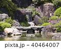 日本庭園 庭園 新緑の写真 40464007