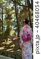 奈良の鹿と着物 40468054