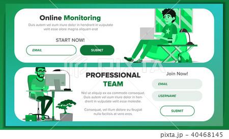 website banners design template vector のイラスト素材 40468145 pixta