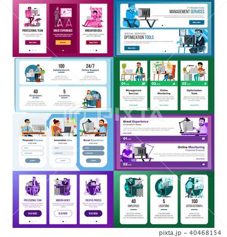 website banners set vector のイラスト素材 40468154 pixta