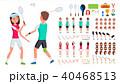 バドミントン ベクトル 選手のイラスト 40468513