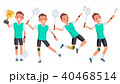 Badminton Male Player Vector.  40468514