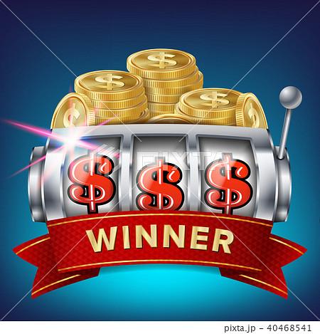 Slot Machine Banner Vector.  40468541