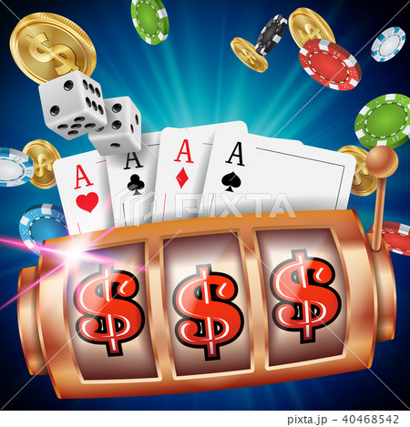 Casino Slot Machine Banner Vector.  40468542