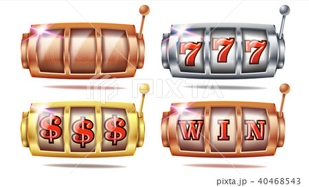 Slot Machine Set Vector 40468543
