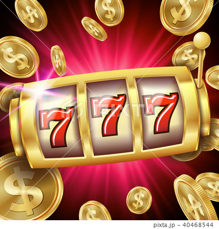 Slot Machine Banner Vector.  40468544