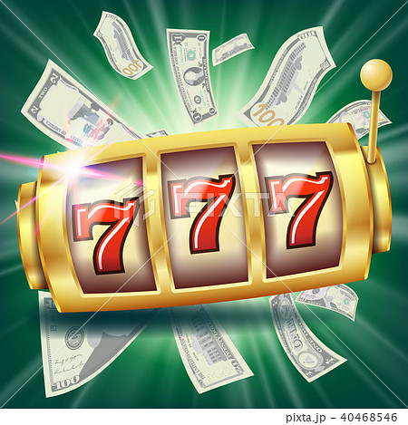 Casino Slot Machine Banner Vector. 40468546