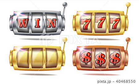 Slot Machine Set Vector. 777.  40468550