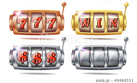 Slot Machine Set Vector. 777.  40468551