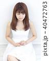 女性 白 ポートレートの写真 40472763