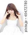 若い女性 ヘアスタイル 40472780