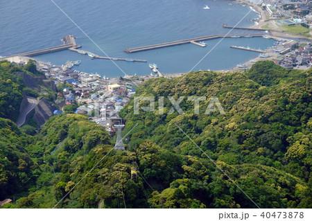 鋸山から金谷漁港を望む(千葉県富津市金谷) 40473878
