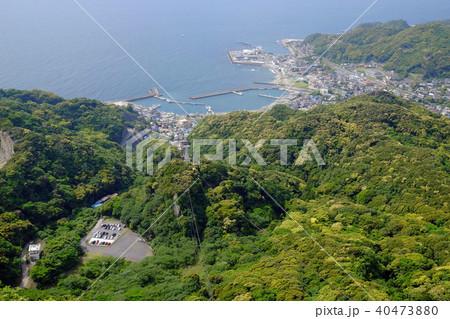 鋸山から金谷漁港を望む(千葉県富津市金谷) 40473880