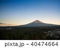 河口湖からの富士山 40474664