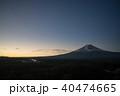 河口湖からの富士山の朝焼け 40474665