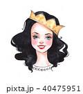 水彩画 女の子 女児のイラスト 40475951