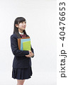 女性 学生 ブレザーの写真 40476653