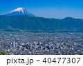 《山梨県》富士山と甲府盆地 40477307