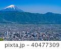 《山梨県》富士山と甲府盆地 40477309